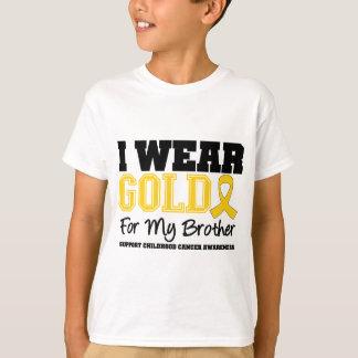 Cáncer de la niñez llevo la cinta Brother del oro Playeras