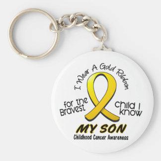 Cáncer de la niñez llevo la cinta del oro para mi llavero personalizado
