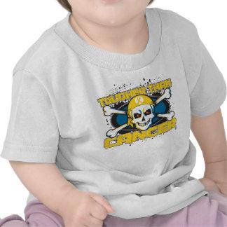 Cáncer de la niñez más duro que el cráneo del cánc camisetas