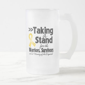 Cáncer de la niñez que toma un tributo del soporte taza