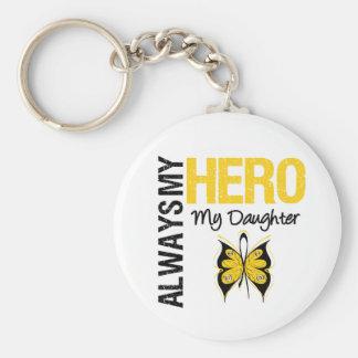Cáncer de la niñez siempre mi héroe mi hija llavero redondo tipo pin