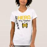 Cáncer de la niñez siempre mi héroe mi sobrino camiseta