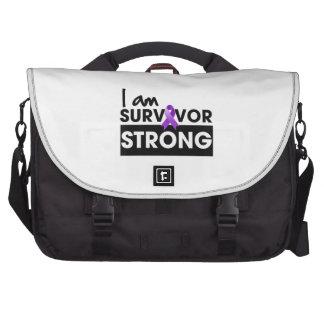 Cáncer de Leiomyosarcoma soy superviviente fuerte Bolsas Para Portatil