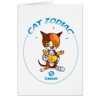 Cáncer de los gatos del zodiaco tarjeta pequeña