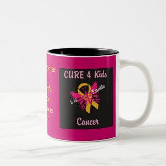 Cáncer de los niños de la CURACIÓN 4 - ES posible Taza De Café De Dos Colores