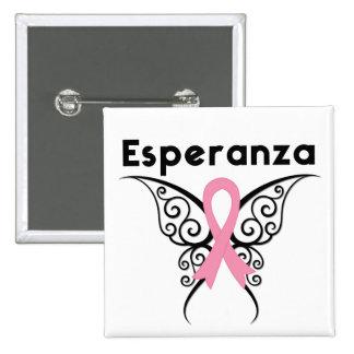Cancer de Mama - Esperanza Pinback Button