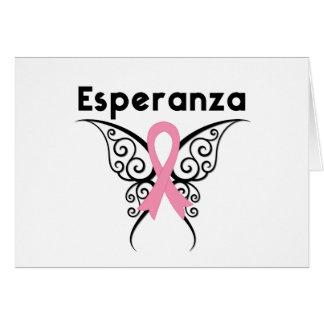Cancer de Mama - Esperanza Greeting Card