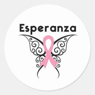 Cancer de Mamá - Esperanza Pegatina Redonda