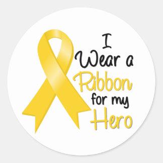 Cáncer de Neuroblastoma llevo una cinta para mi Pegatina Redonda