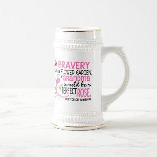 Cáncer de pecho color de rosa perfecto de 2 abuela tazas de café