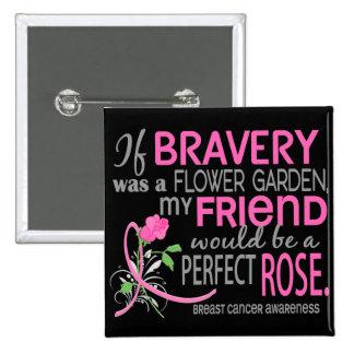 Cáncer de pecho color de rosa perfecto de 2 amigos pin