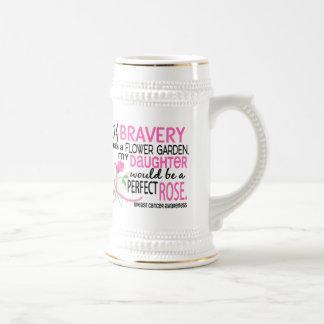 Cáncer de pecho color de rosa perfecto de 2 hijas taza