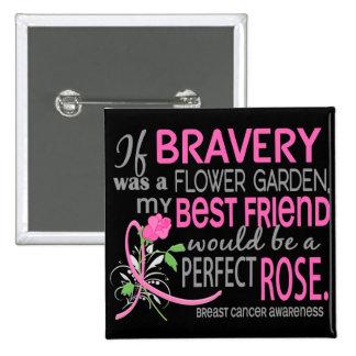 Cáncer de pecho color de rosa perfecto de 2 mejore pins