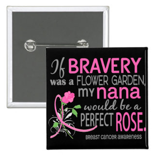 Cáncer de pecho color de rosa perfecto de 2 Nana Pin
