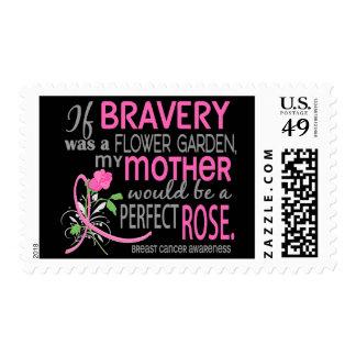 Cáncer de pecho color de rosa perfecto de la madre estampillas
