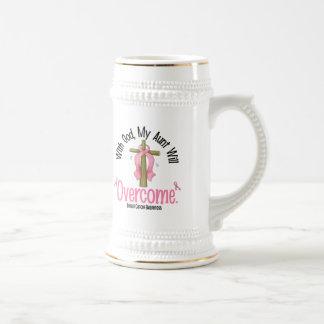 Cáncer de pecho con dios mi tía Will Overcome Tazas De Café