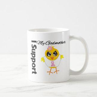 Cáncer de pecho de la ayuda de la madrina taza de café
