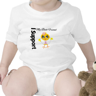 Cáncer de pecho de la ayuda del mejor amigo traje de bebé