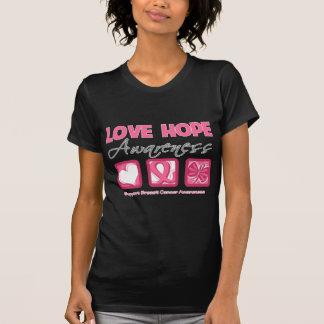 Cáncer de pecho de la conciencia de la esperanza camiseta