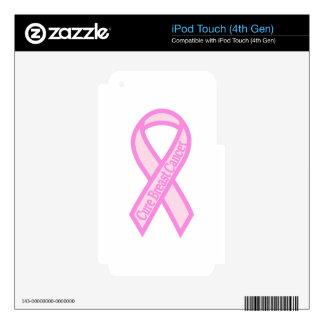 Cáncer de pecho de la curación iPod touch 4G skins