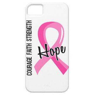 Cáncer de pecho de la esperanza 5 de la fe del iPhone 5 carcasas