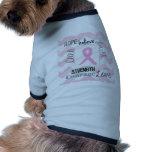 Cáncer de pecho de la esperanza de la vida del amo ropa de mascota