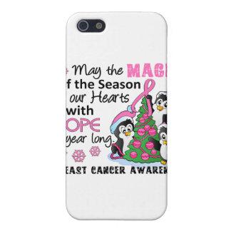 Cáncer de pecho de los pingüinos del navidad iPhone 5 cárcasa