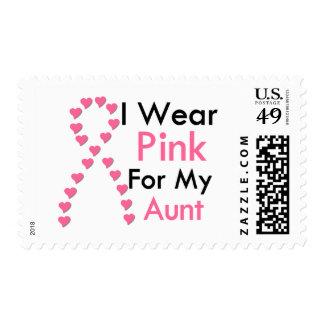 Cáncer de pecho de tía Pink Ribbon Franqueo
