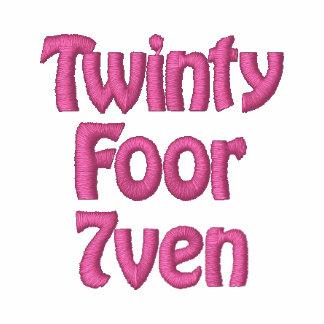 Cáncer de pecho de Twinty Foor 7ven/Fight Sudadera Bordada Con Capucha