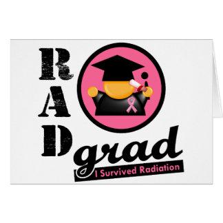 CÁNCER de PECHO del graduado de la radiación Tarjeta De Felicitación