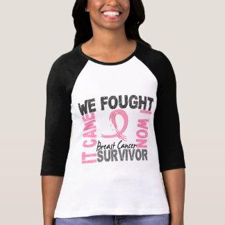 Cáncer de pecho del superviviente 5 camiseta