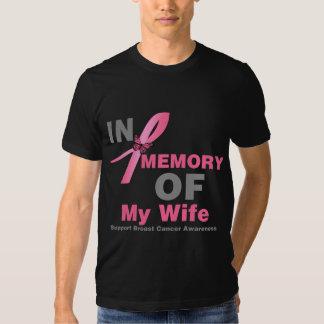 Cáncer de pecho en memoria de mi esposa remeras