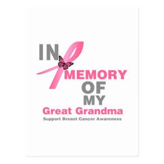 Cáncer de pecho en memoria de mi gran abuela postal