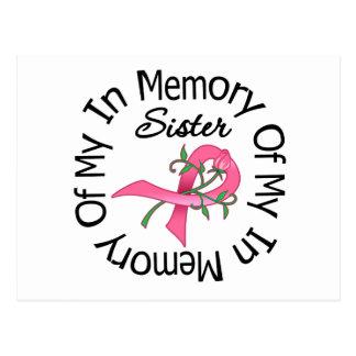 Cáncer de pecho en memoria de mi hermana (cinta co tarjeta postal