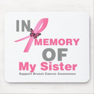 Cáncer de pecho en memoria de mi hermana tapete de ratón