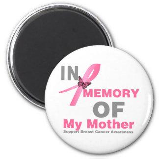 Cáncer de pecho en memoria de mi madre imán