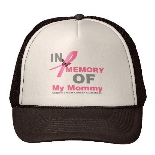 Cáncer de pecho en memoria de mi mamá gorras