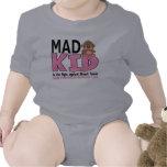 Cáncer de pecho enojado del niño camisetas