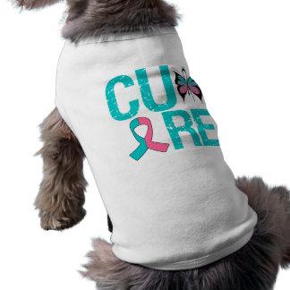 Cáncer de pecho hereditario de la CURACIÓN Camisetas De Perrito