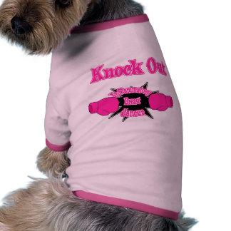 Cáncer de pecho inflamatorio camiseta de perro
