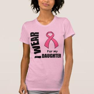 Cáncer de pecho llevo el rosa para mi hija camiseta