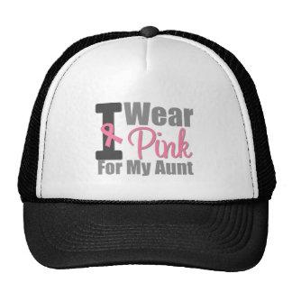 Cáncer de pecho llevo la cinta rosada para mi tía gorras