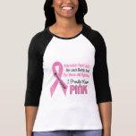 Cáncer de pecho llevo orgulloso el rosa 1 camisetas