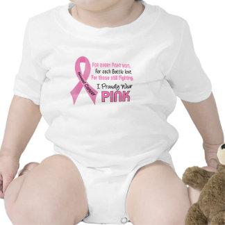 Cáncer de pecho llevo orgulloso el rosa 1 traje de bebé