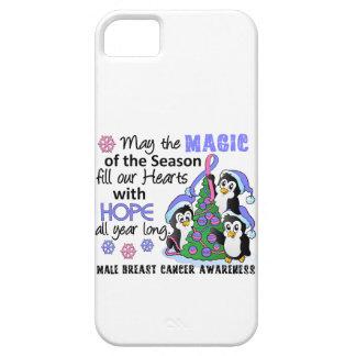 Cáncer de pecho masculino de los pingüinos del iPhone 5 carcasa
