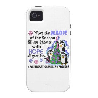 Cáncer de pecho masculino de los pingüinos del Case-Mate iPhone 4 carcasas