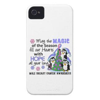Cáncer de pecho masculino de los pingüinos del nav iPhone 4 Case-Mate cobertura