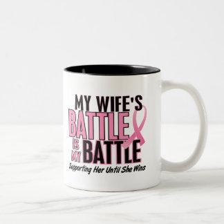 Cáncer de pecho mi BATALLA DEMASIADO 1 esposa Tazas