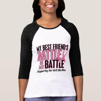 Cáncer de pecho mi BATALLA DEMASIADO 1 mejor amigo Camiseta