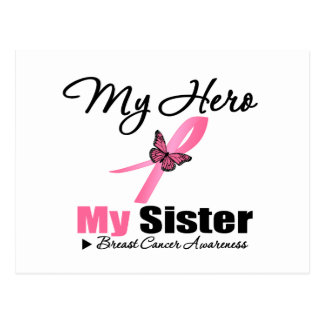 Cáncer de pecho mi héroe mi hermana tarjeta postal